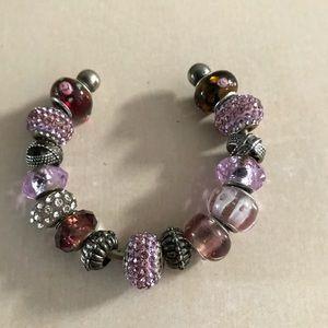 Multicolored & multi stone cuff bracelet